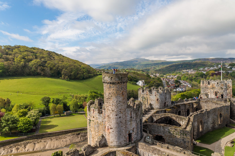 Conwy Castle // The Most Beautiful Places to Visit in Wales // #readysetjetset #wales #uk #welsh #travel #photospots #blogpost