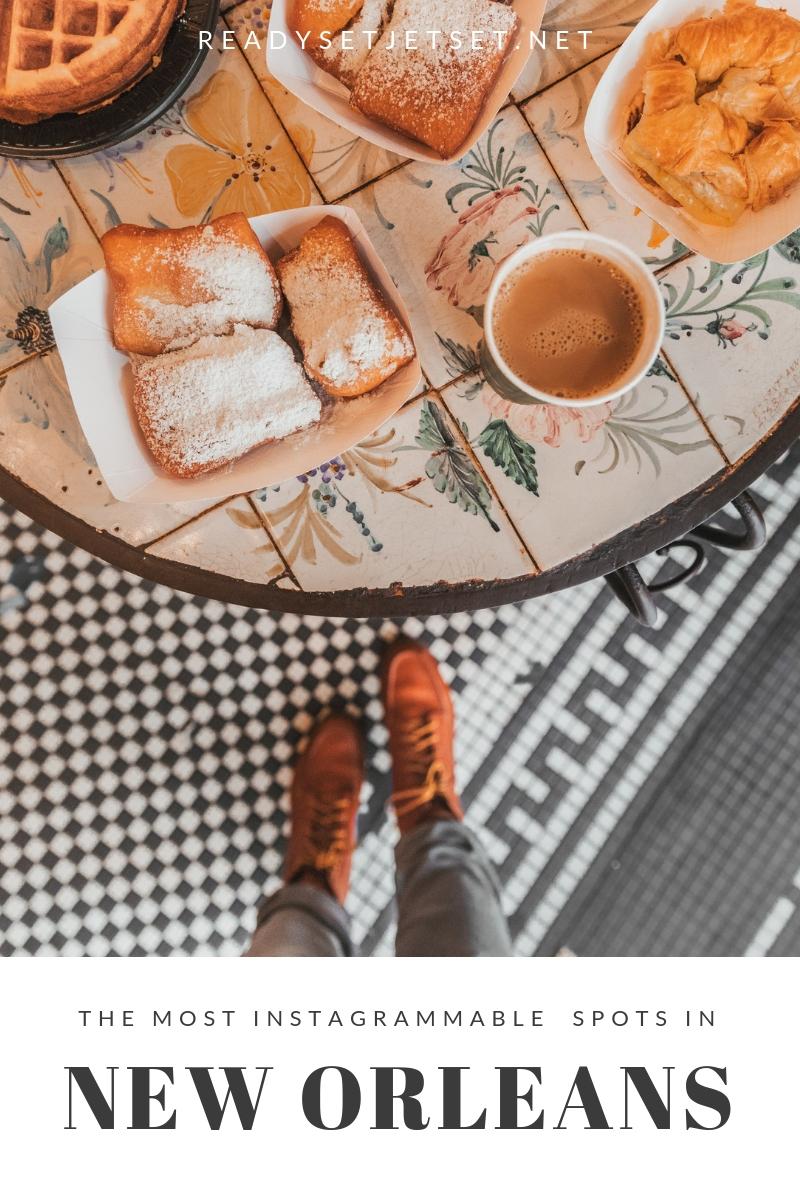 The Most Instagrammable Spots in New Orleans // www.readysetjetset.net #readysetjetset #neworleans #blogpost #photospots #instagramguide #nola #louisiana #usa #travel #instagram #frenchquarter #beignets #cafedumonde
