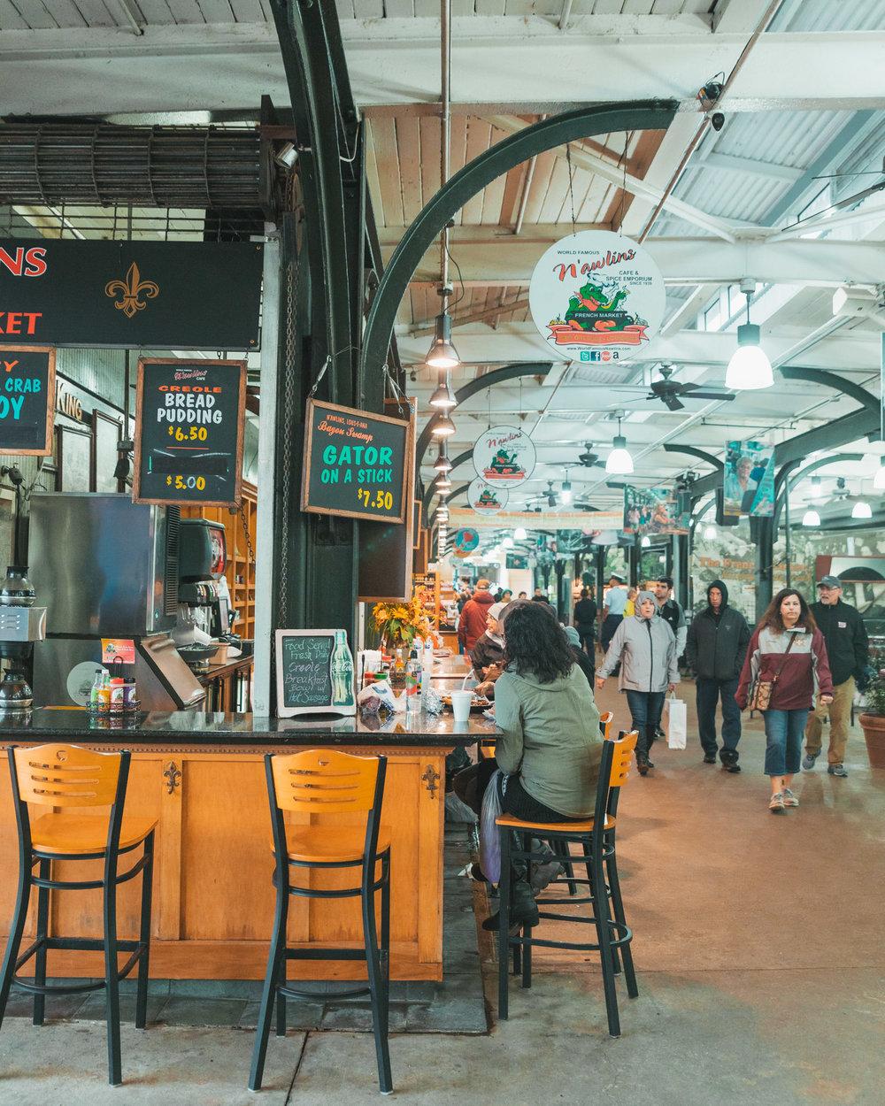 French Market NOLA // The Rainy Day Guide to New Orleans www.readysetjetset.net #readysetjetset