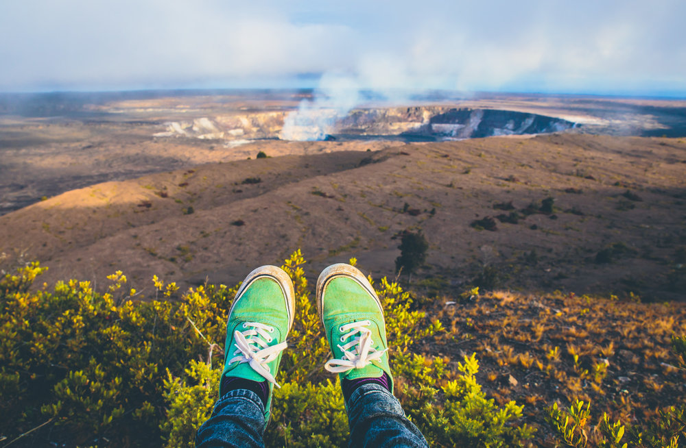 Kilauea crater  // 10 Things You Have to Do on the Big Island of Hawaii // www.readysetjetset.net #readysetjetset #hawaii #bigisland #blogpost #hawaiiguide