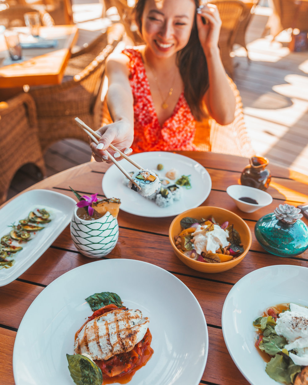 Lunch at Beach Tree Restaurant // A Luxury Stay on the Big Island: Four Seasons Resort Hualalai // #readysetjetset #hawaii #bigisland #luxuryhotels #beachresorts #usa #travel