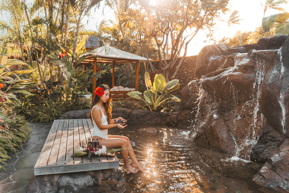 Waiea Garden at Hualalai Spa // A Luxury Stay on the Big Island: Four Seasons Resort Hualalai // #readysetjetset #hawaii #bigisland #luxuryhotels #beachresorts #usa #travel