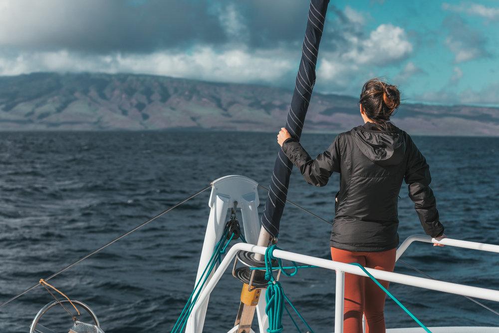 Maui whale watching on a catamaran // The Quick Guide to Visiting Maui, Hawaii #readysetjetset #hawaii #maui