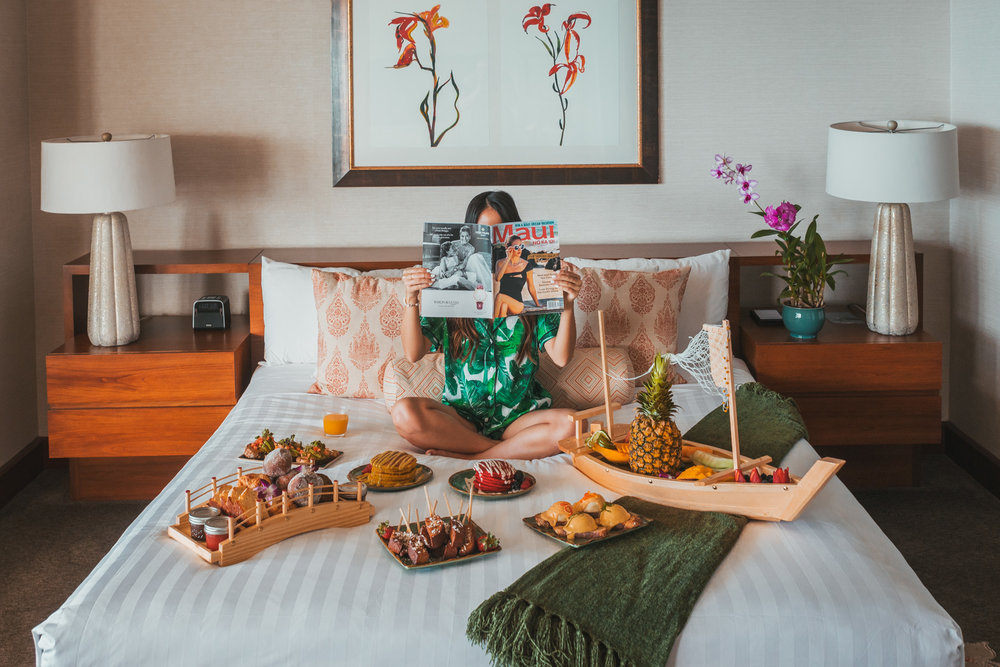 Presidential Suite breakfast in bed at Hyatt Regency Maui  // The Quick Guide to Visiting Maui, Hawaii #readysetjetset #hawaii #maui