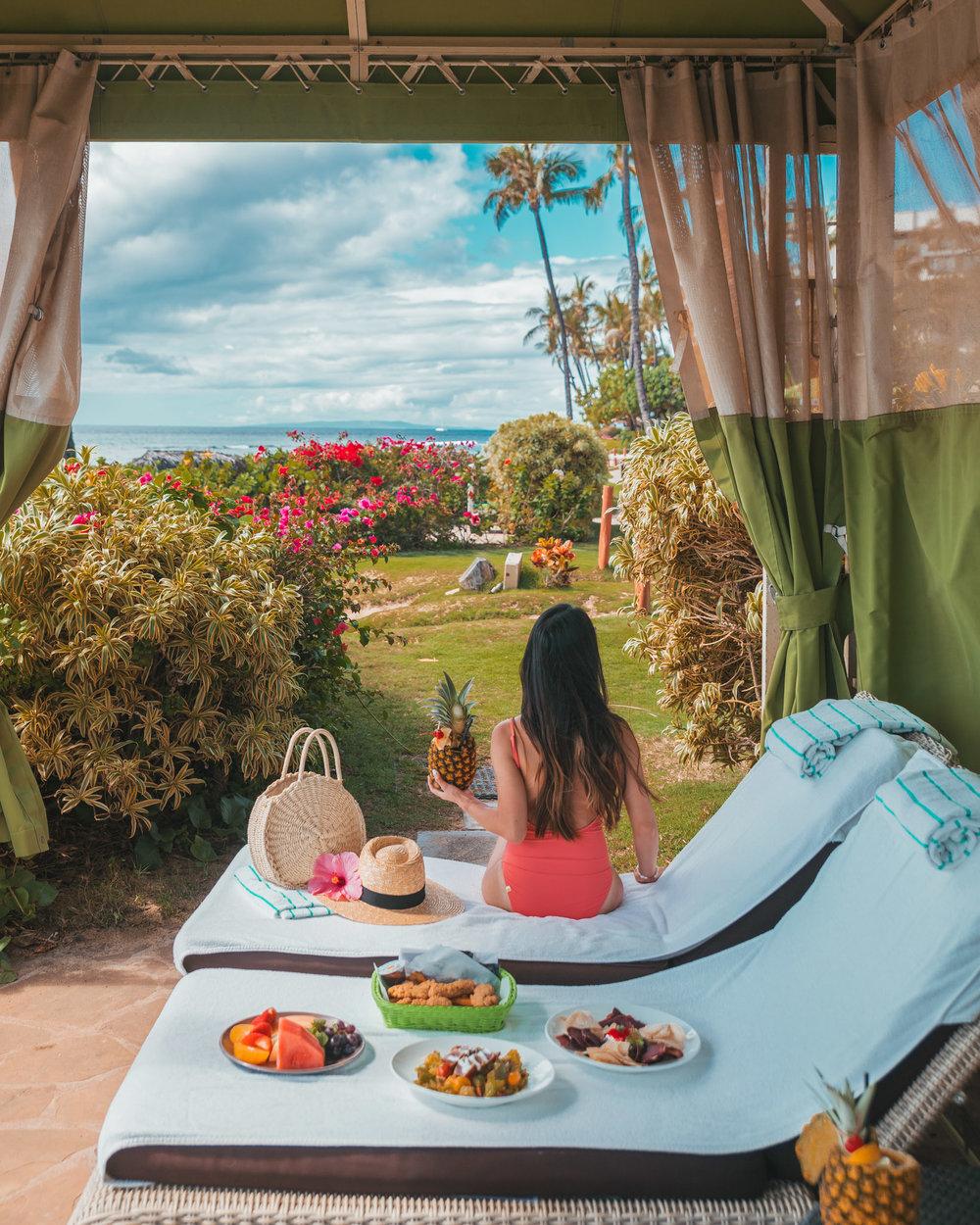 Ohana cabana by the pool at Hyatt Regency Maui  // The Quick Guide to Visiting Maui, Hawaii #readysetjetset #hawaii #maui
