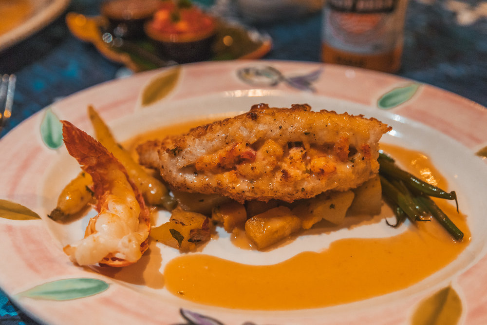 Mama's Fish House - kanpachi stuffed with lobster and crab  // The Quick Guide to Visiting Maui, Hawaii #readysetjetset #hawaii #maui