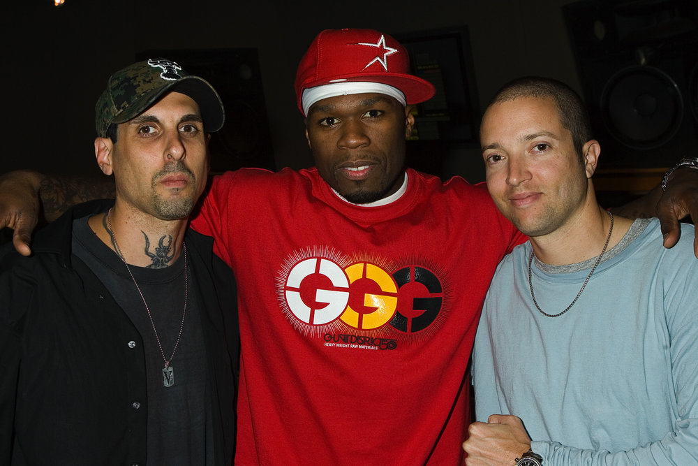 Left to Right: Michael Amoia, 50 Cent, Steven J. Levy