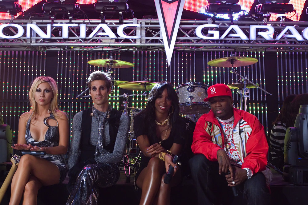 Left to Right:Perry Farrell, Kelly Rowland, 50 Cent