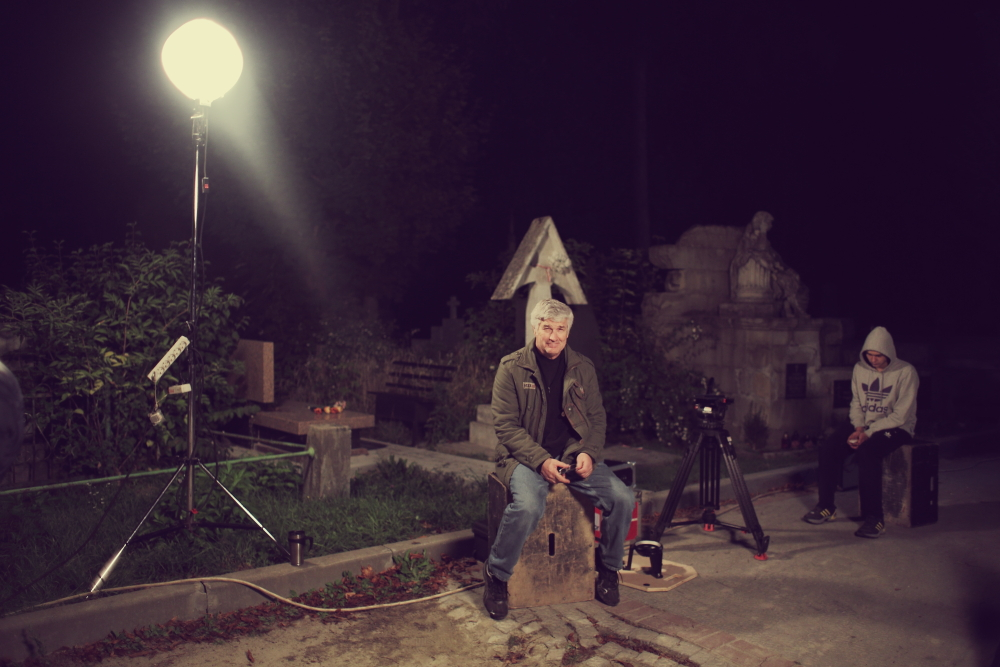 Mark Eberle on set in Kiev