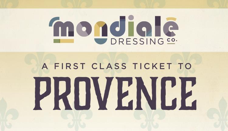 Provence Mondiale dressing label