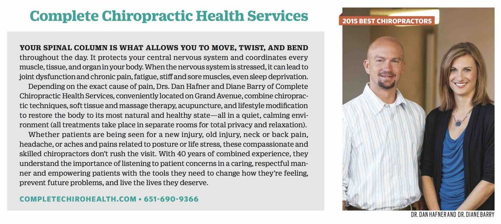 Minnesota MOntlhy Profile of COmplete Chiropractic