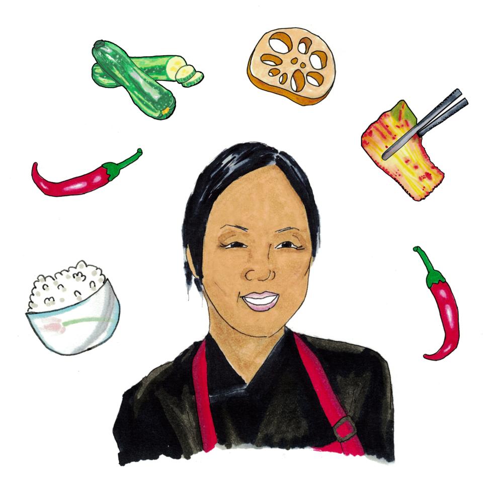Shin Kim, the chef behind the Korean culinary studio Banchan Story
