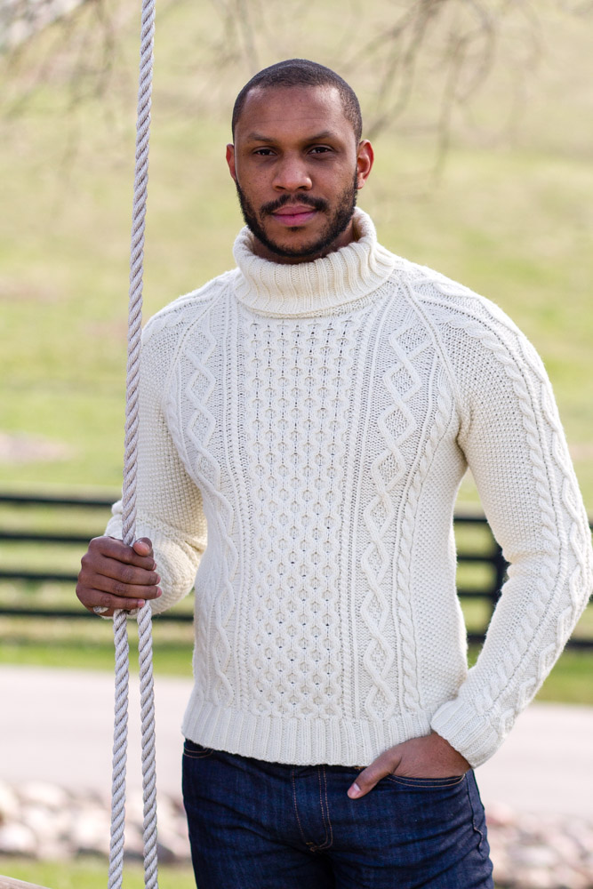 ROBERT sweater knitting pattern from HANDSOME: Man Sweaters for Every Body // pamelawynne.com