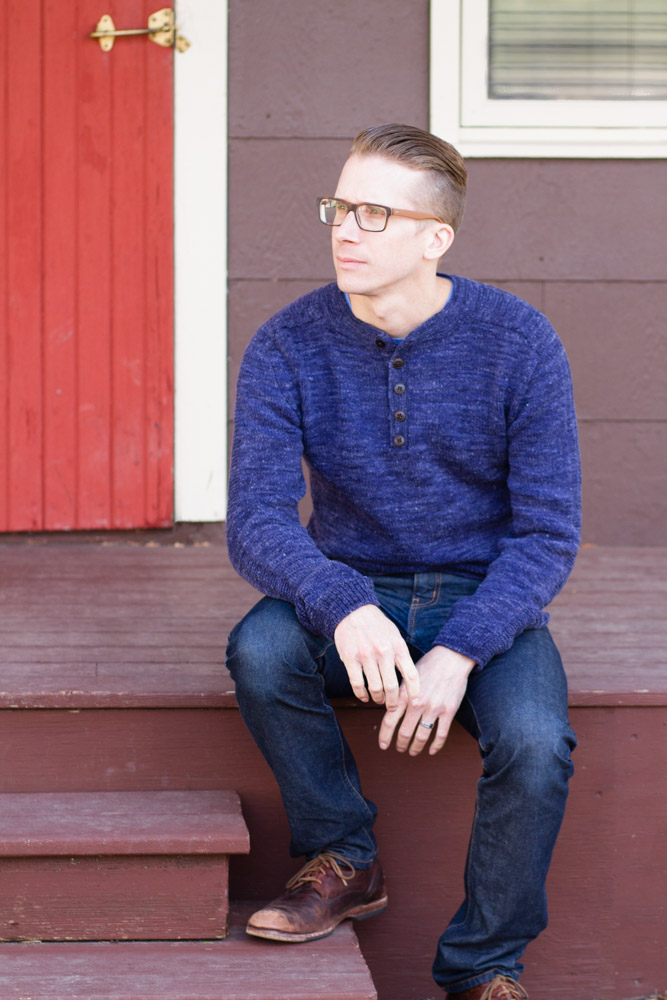 RUSHAAN sweater knitting pattern from HANDSOME: Man Sweaters for Every Body // pamelawynne.com
