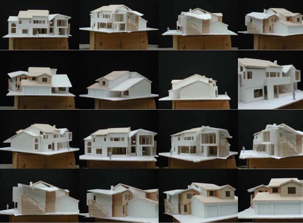 The addition was studied extensively in model form as roof profile came to be central to the design.