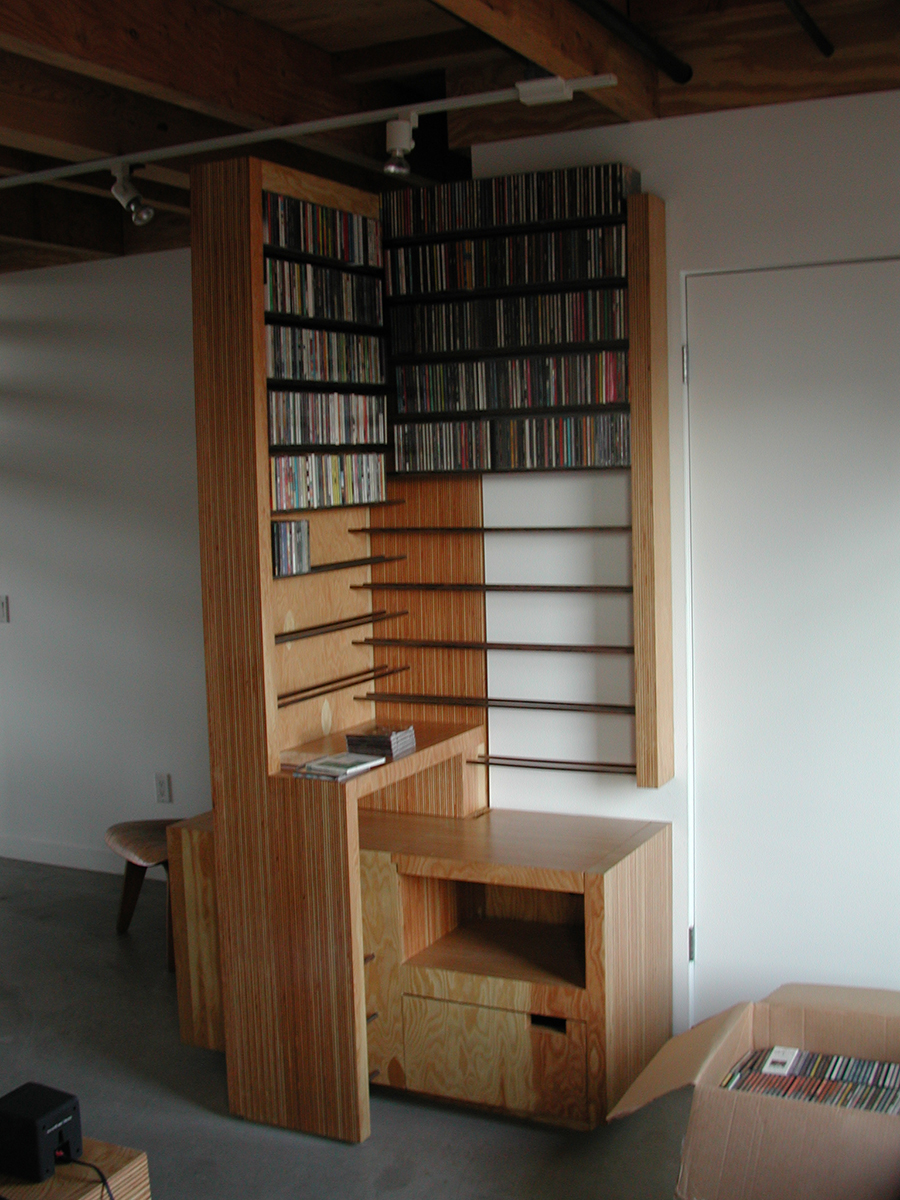 While from the office area itself one has access to the cd collection, the heart of the project with over 1000 on display.