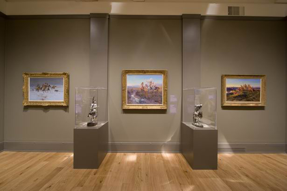 The Western and Native American section of the Exhibition.
