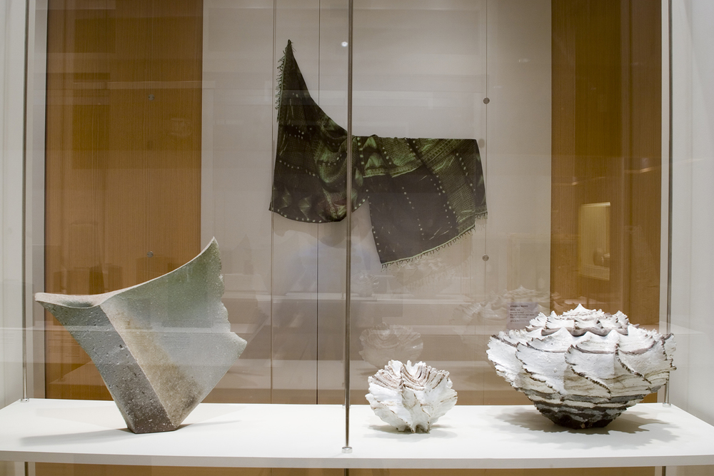 Installation of ceramics and textiles