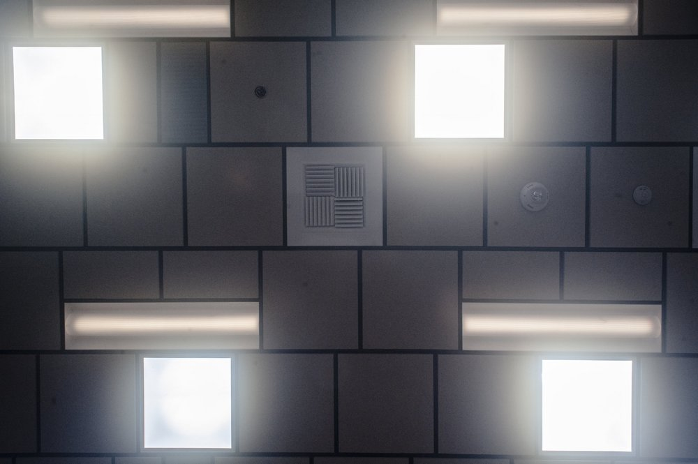 A ceiling detail highlights the impact of the tubular daylighting devices.