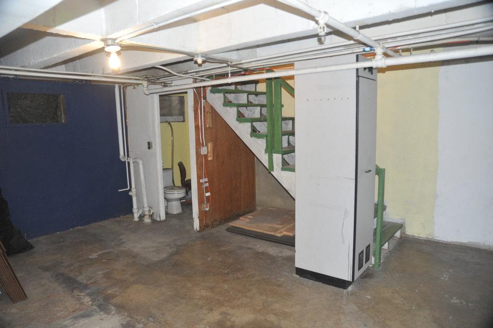 Existing basement.