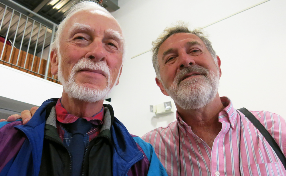 Musician Jack Brent (left) and photographer Ron Pownall (right).