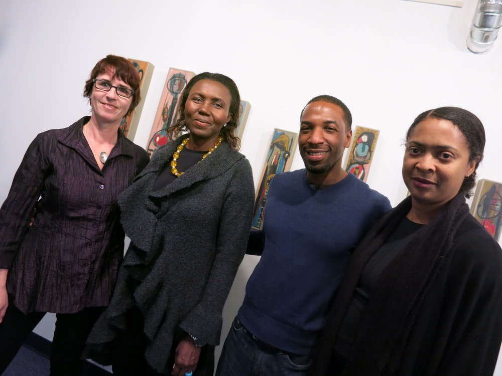 Left to right: Christina Lanzl, Colette Brésilla, Steve Desro, Danielle Legros George
