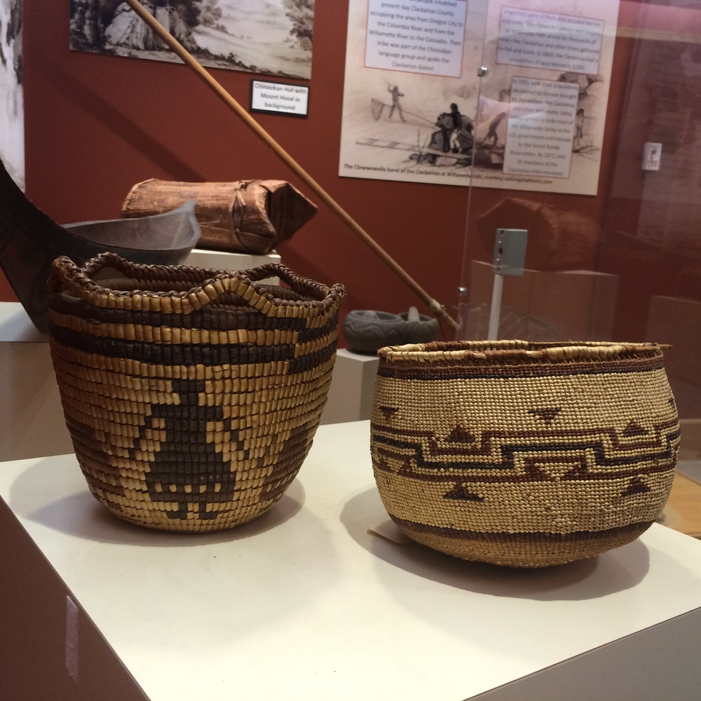 We feature items from the Columbia River Basket Collection, including these from the Klikitat tribe.
