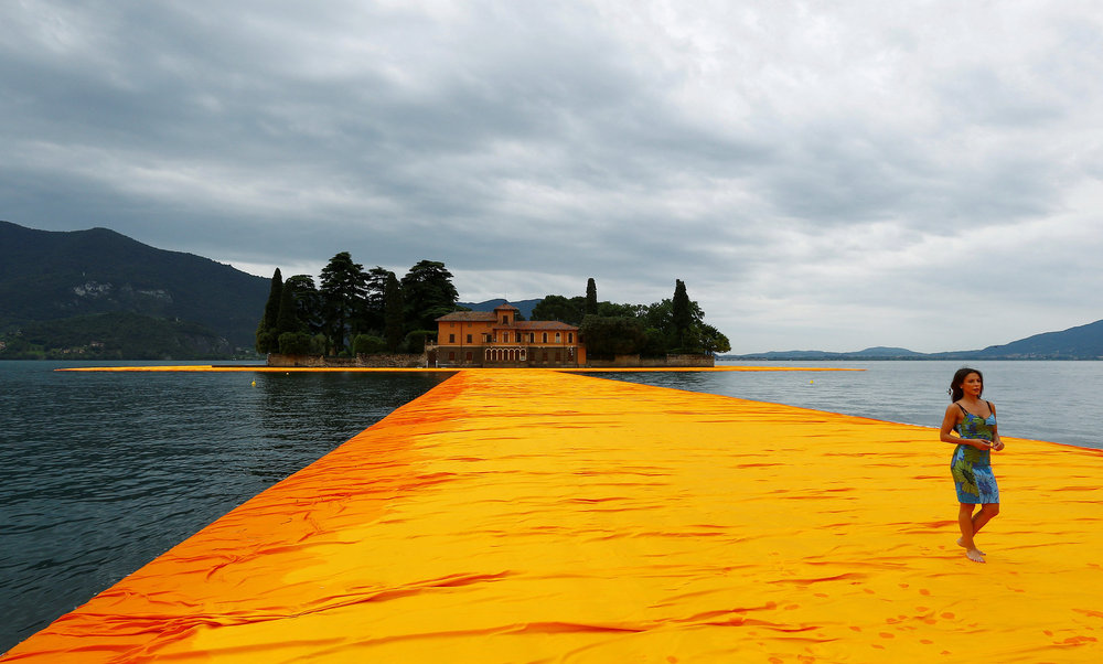 christo s newest project walking on water the floating piers rh archive thefloatingpiers com newest project runway season new project
