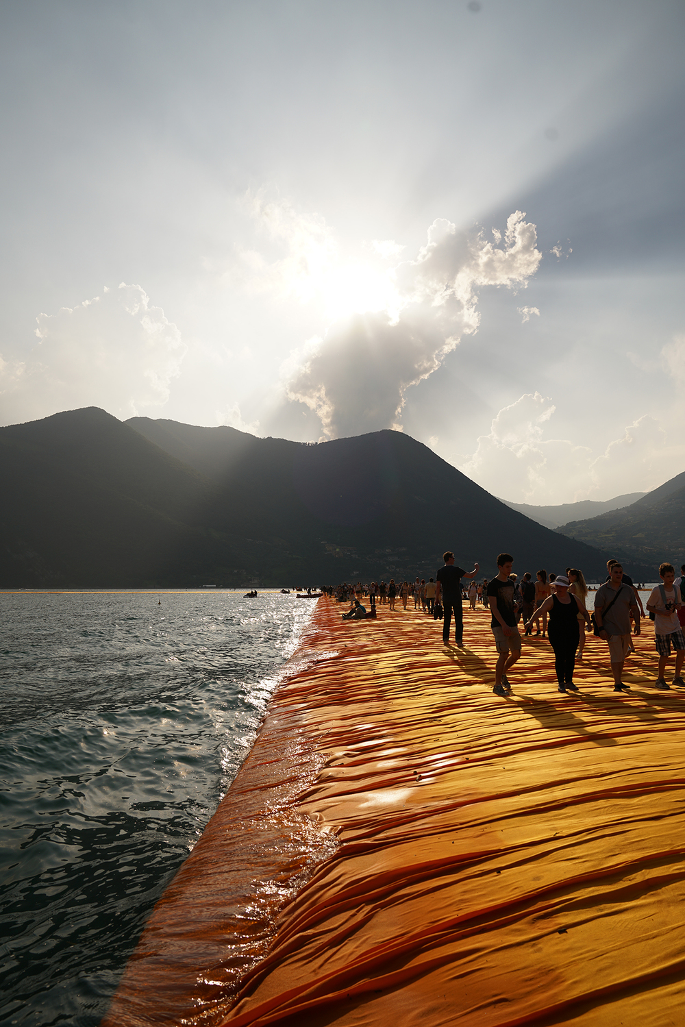 The Floating Piers, Lake Iseo, Italy, 2014-16