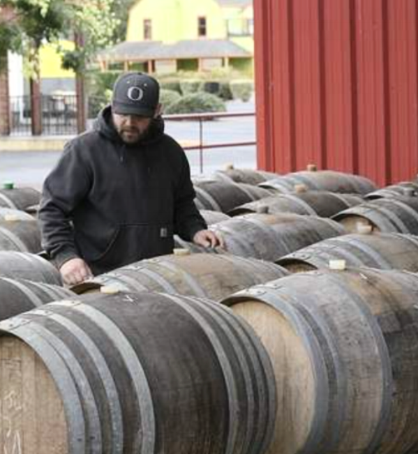 Cody Wright chose Dundee, OR for the new Purple Hands winery and tasting room.