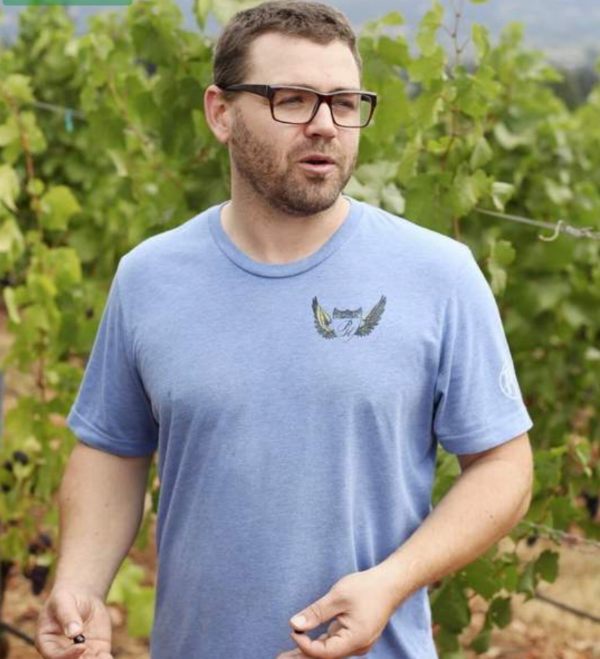 Winemaker Cody Wright is shown at his Purple Hands Latchkey Vineyard. He is carrying on the tradition of a notable Oregon wine pioneer family.