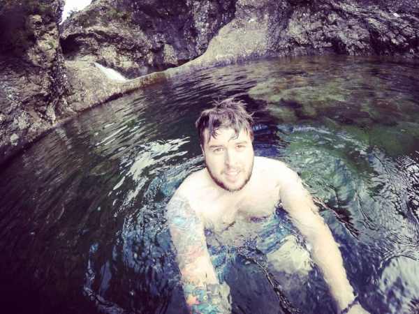 Swimming in the Fairy Pools 24/08/2016.