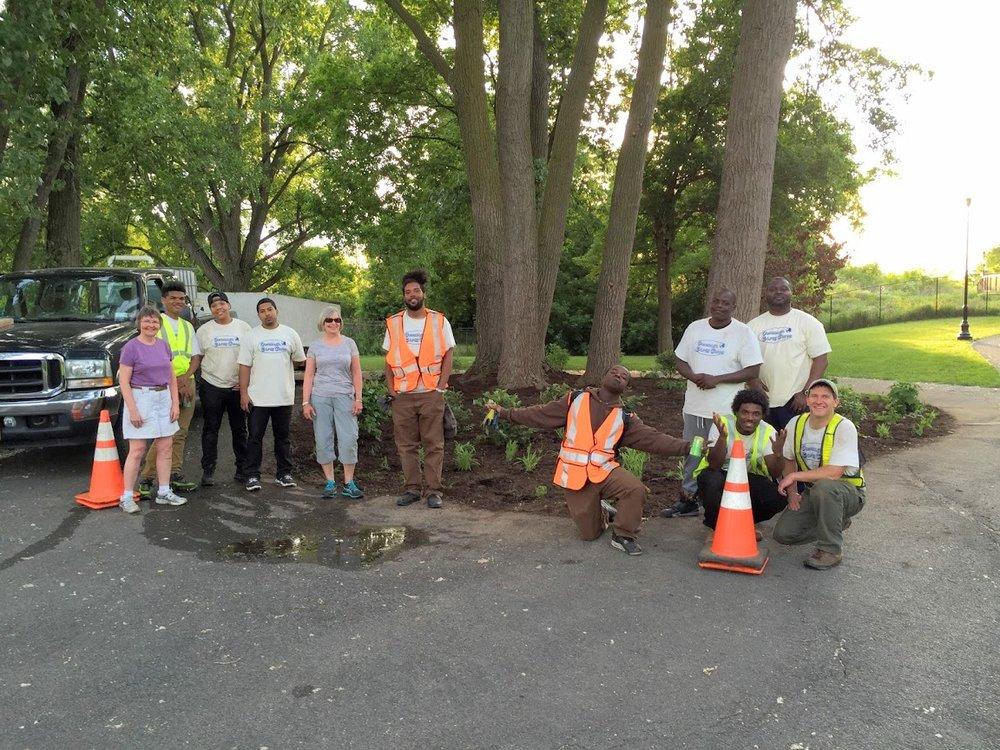 Circle Planting along the Creek Walk