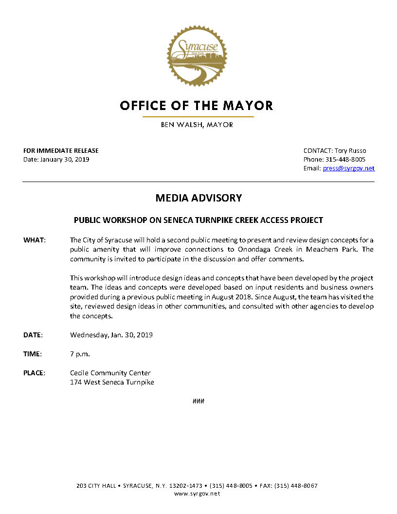 2019 01 30 MEDIA ADVISORY Public Workshop on Seneca Turnpike Creek Access Project.jpg
