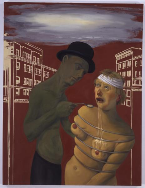 Nicole Eisenman, Commerce Feeds Creativity, 2004