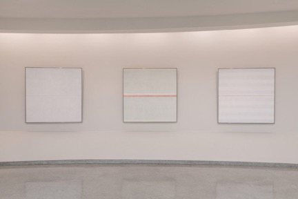 "(from left) ""Loving Love"" (1999), ""Gratitude"" (2001),  ""Blessings"" (2000)"