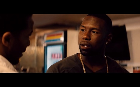 Trevante Rhodes as Chiron in  Moonlight 's final third