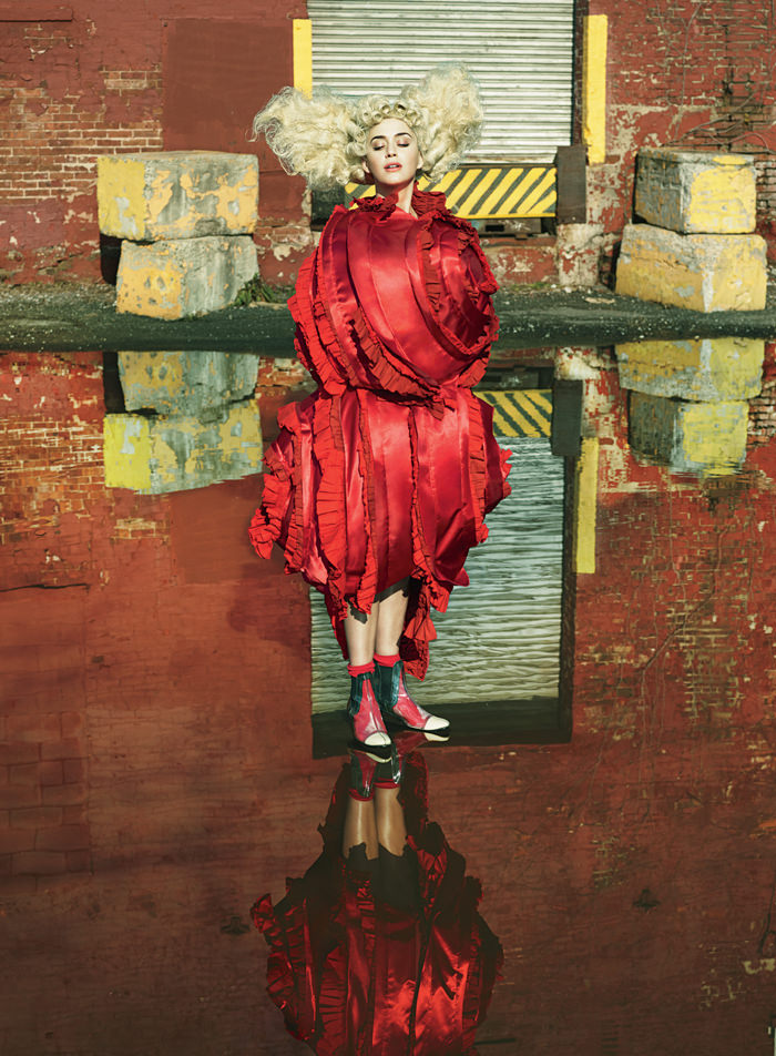 Katy Perry in Comme des Garçons, Vogue Magazine