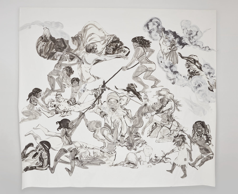 The Pool Party of Sardanapalus (after Delacroix, Kienholz), Kara Walker, 2017