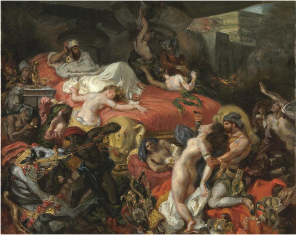 Death of Sardanapalus , Eugene Delacroix, 1828
