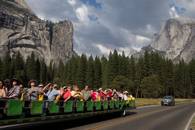 Visitors touring Yosemite National Park. CreditMax Whittaker for The New York Times