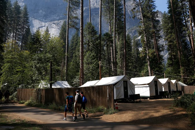 Half Dome Village, formerly Camp Curry in Yosemite. CreditPreston Gannaway for The New York Times
