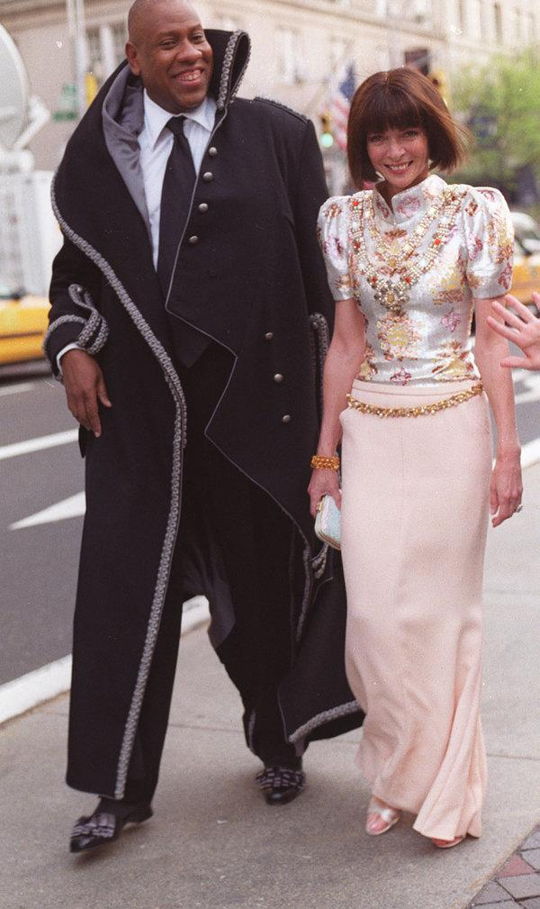 Photo of André Leon Talley and Anna Wintour by Bill Cunningham