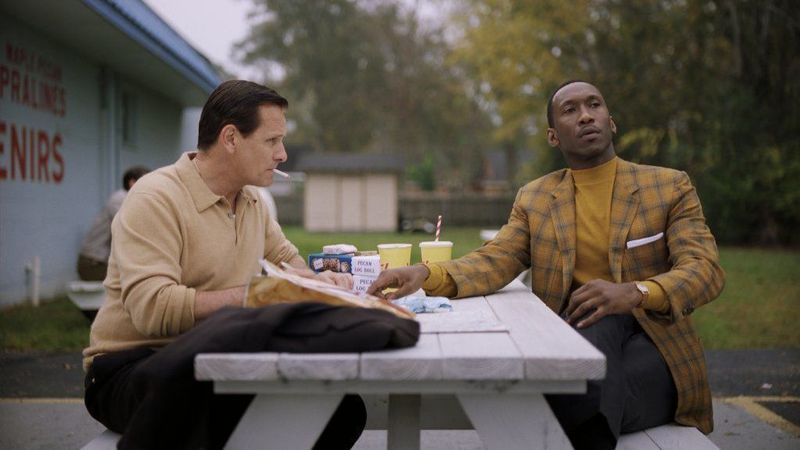 "Viggo Mortensen left, as Tony Vallelonga and Mahershala Ali as Dr. Donald Shirley in ""Green Book,"" directed by Peter Farrelly. (Universal Pictures /Participant)"