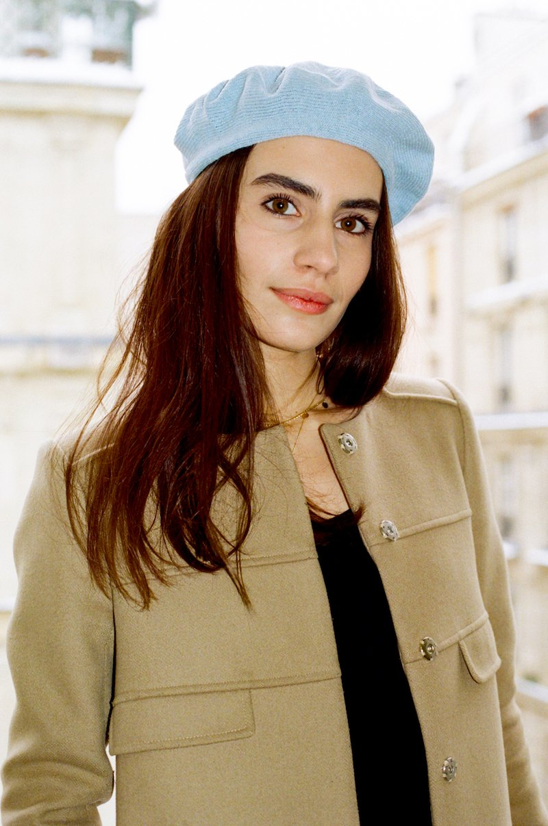 """The  """"Ecojean Beret""""  in baby blue Image: Les Sublimes"""