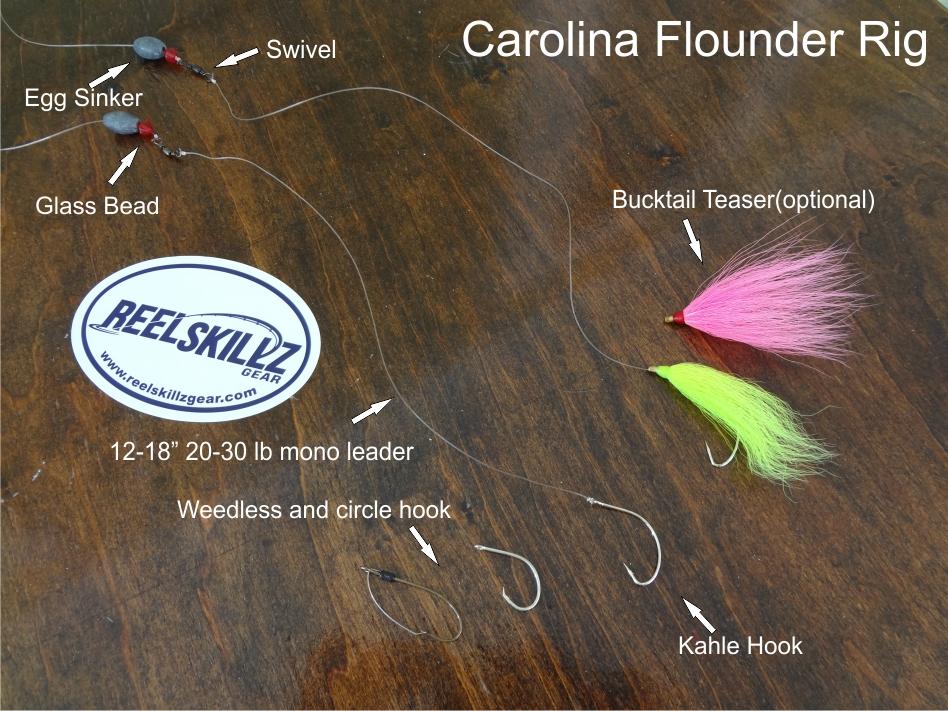 Making and using a carolina rig for flounder reel skillz for Carolina rig fishing