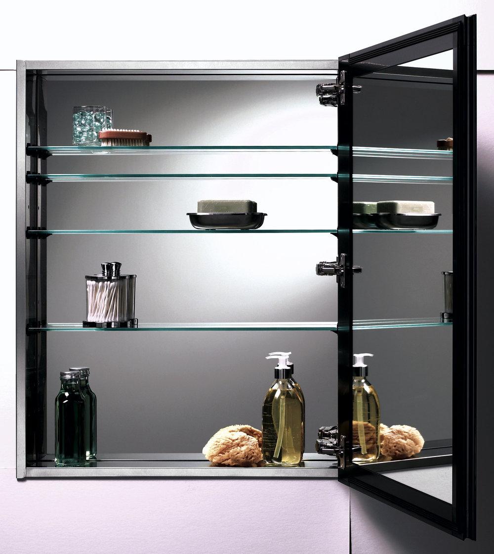 furniture-black-polished-metal-bathroom-medicine-storage-with-glass-shelving-unit-and-black-metal-frame-mirror-swing-door-panel-medicine-cabinet-glass-shelves.jpg