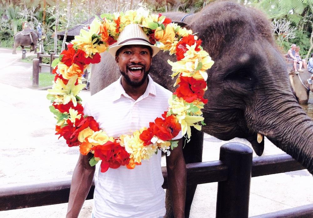 Darrin with elephant