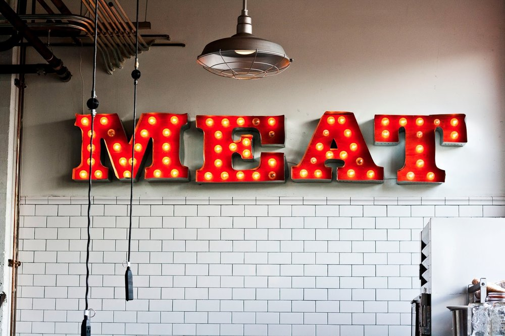 Meat Sign