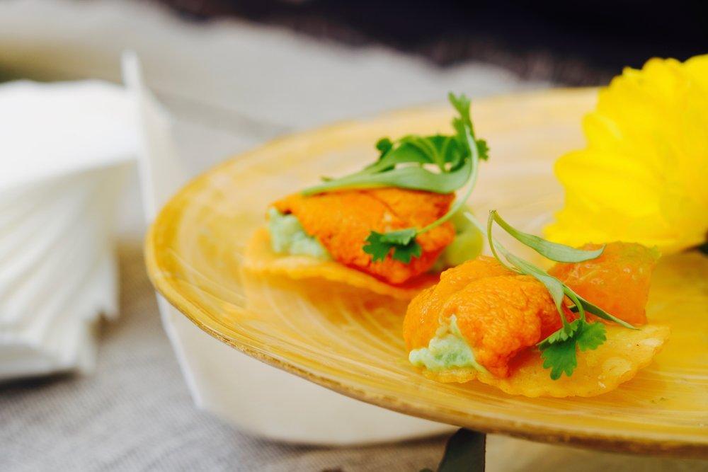 Uni Tostada with Avocado and Grapefruit Salsa from Mama Lion